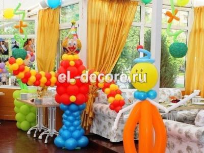"""Оформление шарами дня рождения в ресторане """"VERA"""""""