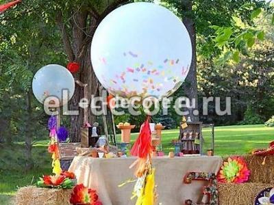 Гигантский шар с кисточками и конфетти
