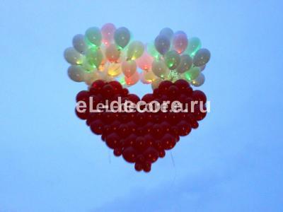 Запуск сердца и светящихся шаров