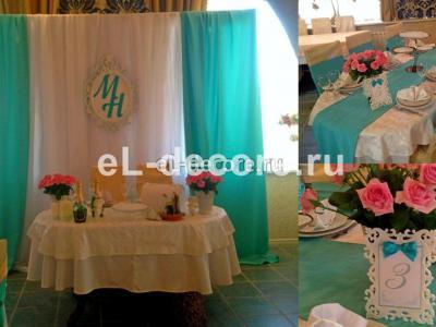 Нежный декор свадьбы в мятном цвете