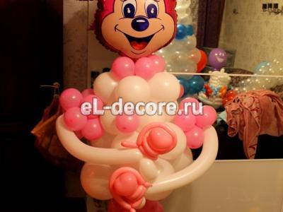 Фигура из воздушных шаров Минни Маус