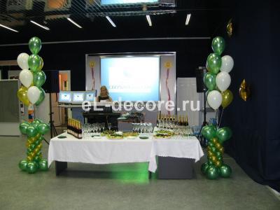 Украшение шарами на День Рождения Сбербанка