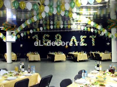 Воздушные шары на дне рождения Сбербанка