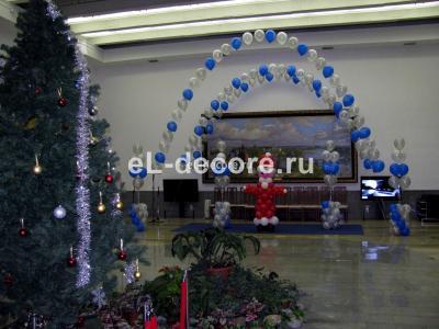 Ярославский вокзал,оформили шарами зал ожидания. Отправляли детишек в Великий Устюг