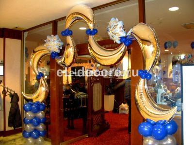 Новогодняя Арка из фольгированных шаров