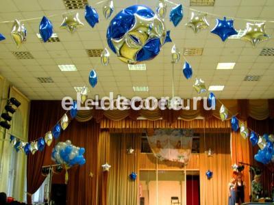 Сфера из звезд в актовом зале