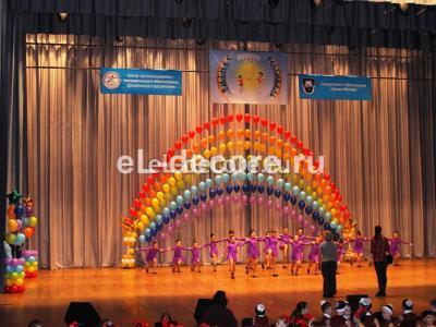 Оформили шарами дворец детского творчества