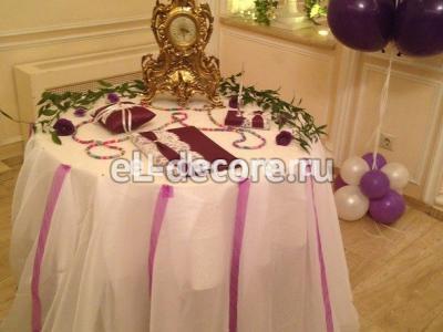 Оформление стола регистрации на свадьбу