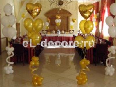 Свадебные букеты из воздушных шаров