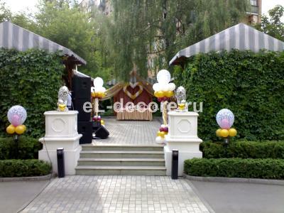 """Оформление воздушными шарами ресторана """"Граф Орлов"""""""