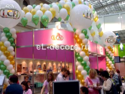 """Выставка """"Kosmetik expo"""" Оформление шарами на выставке"""