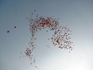 Запуск шаров в небо 1000 шт.