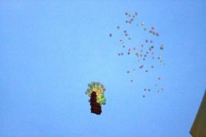 Запуск светящихся шариков 80 шт