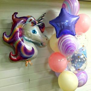 Сэт из воздушных шаров на годик девочке