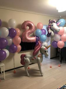 Шарики на День рождения девочке 2 года