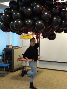 Воздушные шары с гелием Черные
