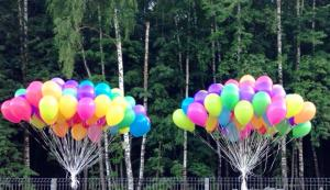 """Гелиевые воздушные шары 30 см. """"Ассорти"""""""