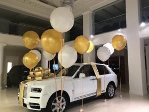 """Большой золотой бант на машину """"Gold premium"""""""