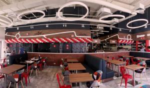Оформление шарами на открытие M' grillcafe в пос. Эммаусс