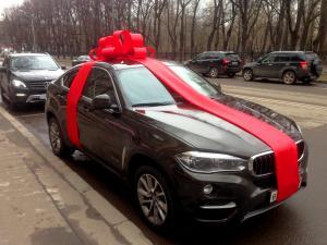 """Бант на машину """"ЛЮКС"""" красный"""