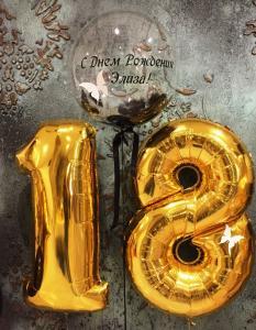 Оформление шарами на 18 лет
