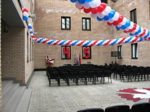Оформление шариками в военной части. город Климовск