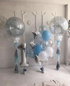 Оформление шарами на 1 годик мальчику