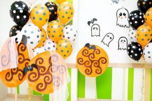 Оформление шарами в стиле Хэллоуин